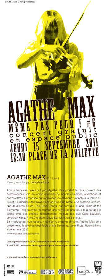 Agathe Max- MEME-PAS-PEUR -Marseille